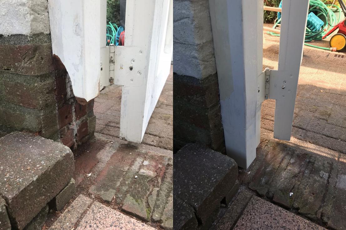 Houtrot reparatie deurstijl