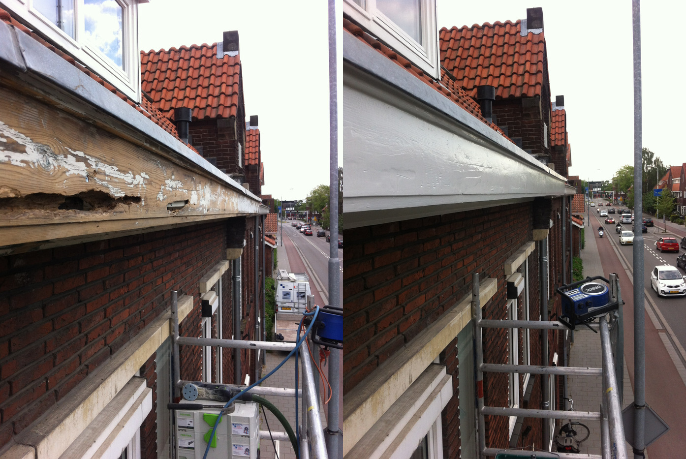 Houtrot Reparatie en Schilderwerk Dakgoot
