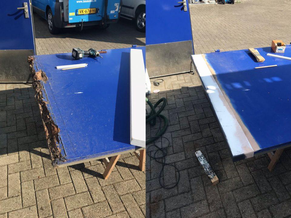 Herstellen houtrot deur